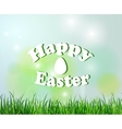 Nature background with grass for easter vector image