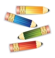 Pencils isolated on white background vector image