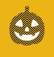 pumpkin head jack lantern flat art vector image