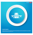 Railroad track icon abstract blue web sticker