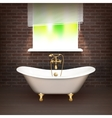 Realistic Bathroom Poster vector image