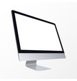 realistic computer display isolated vector image
