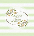 save date wedding invitation floral elements vector image vector image