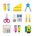 school and office stationery icon set vector image