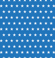 seamless pattern white stars on blue background vector image vector image