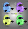 set with four colorful chat bots vector image vector image