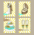 Sketch set of wedding posters vector image