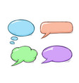 speech bubbles colored doodles set vector image vector image