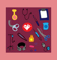staff nurse kit background vector image