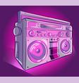 stereo audio radio pink and purple vector image