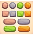 Stone buttons vector image vector image