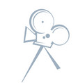 stylized drawing an old movie camera vector image vector image