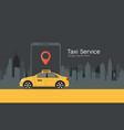 taxi service cab app design flyer taxi vector image vector image