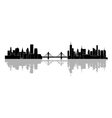 The silhouette of the city vector image