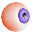 tired eyeball mockup realistic style vector image