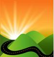 travel landscape sunset view vector image