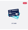 two color cit card icon from digital economy vector image
