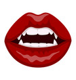 vampire red lips icon scary mystery dracula mouth vector image