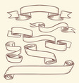 vintage victorian scroll ribbon banners old tag vector image