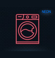 washing machine line icon cleaning service vector image vector image