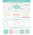 Wedding vintage elements big collection vector image vector image