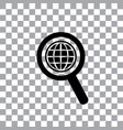 worldwide searching around the world vector image