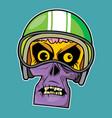 zombie head - motor rider vector image vector image