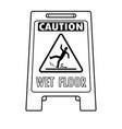 wet floor sign coloring book vector image