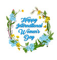 8 march happy international women s day greeting vector image vector image