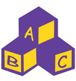 abc blocks vector image