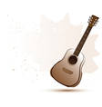 Acoustic guitar in water color style vector image