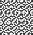Alternating black and white diagonally cut squares vector image