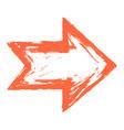 arrow symbol ink sketch brushstroke vector image vector image