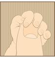 Baby hand vector image