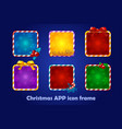 background for app icons christmas set new vector image vector image
