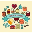 Banner for fitness vector image vector image