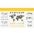Big set of maps and globes Pins collection vector image vector image