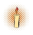 Candle comics icon vector image vector image