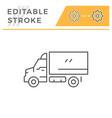 cargo van line icon vector image vector image