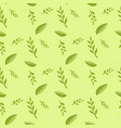 cartoon seamless floral pattern decor background vector image vector image
