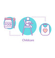 childcare concept icon vector image vector image
