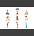 children negative emotions expression of vector image vector image