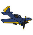 classic blue navy battle aircraft vector image