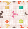 cloth with colorful geometric shapes vector image vector image