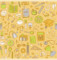colored back to school pattern with school vector image vector image