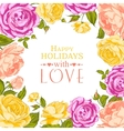 Complimentary of rose frame vector image vector image