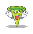 crazy funnel character cartoon style vector image vector image