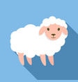 cute sheep icon flat style vector image vector image