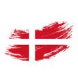 Danish flag grunge brush background