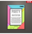 Design of template Invitation flyer or vector image
